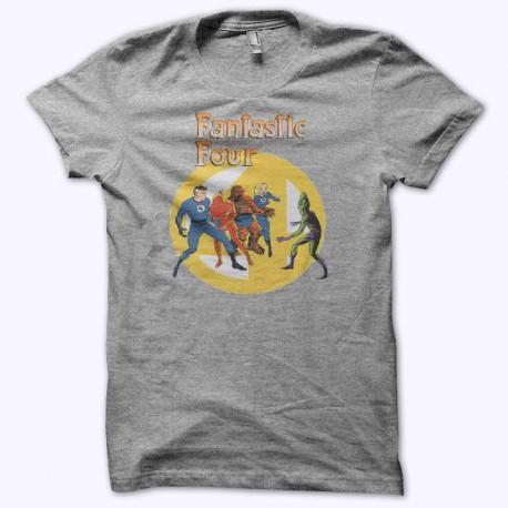 Tee shirt Les Quatre Fantastiques Les Fantastiques gris