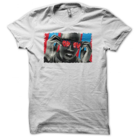 Tee shirt Kanye West  blanc