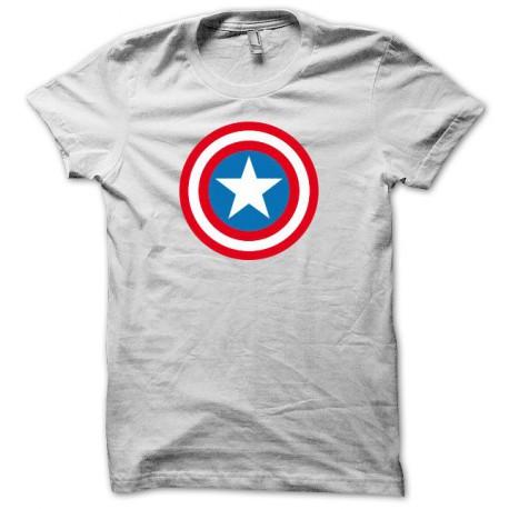 Tee shirt Capt America blanc