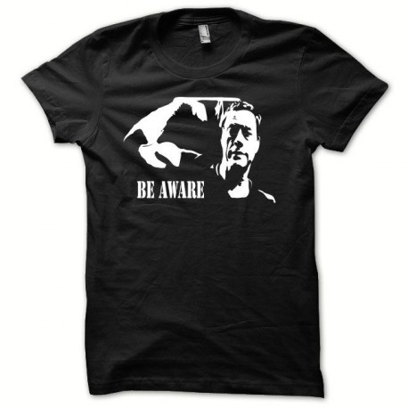 Tee shirt Jean-Claude Van Damme BE AWARE noir