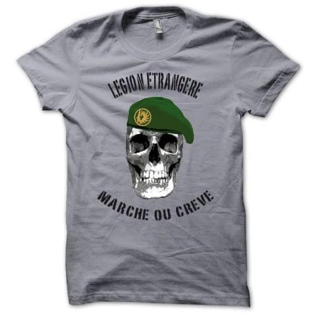 Tee shirt Légion étrangère Marche ou crève noir/gris