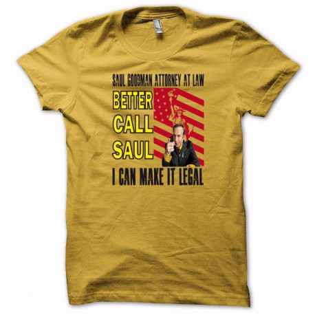Tee shirt Breaking bad  better call saul jaune