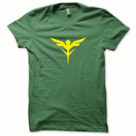 Tee shirt Gunam jaune/vert bouteille