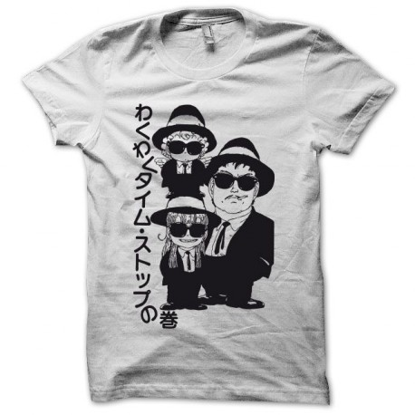 Tee shirt  Dr. Slump Dr. Suranpu parodie blues brothers blanc