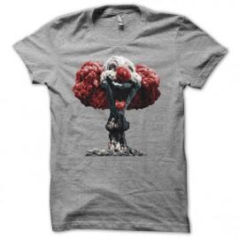 Tee shirt explosion nucléaire clown gris