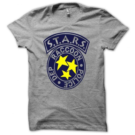 Tee shirt Raccoon Police S.T.A.R.S resident evil gris