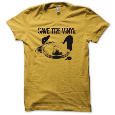 Tee shirt Save the Vinyl  jaune