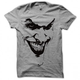 Tee shirt  Joker le batman avec artwork gris