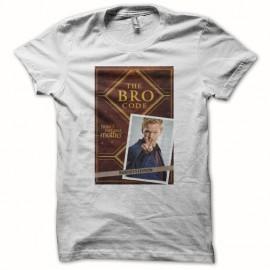 camiseta Cómo conocí a vuestra madre The bro code blanco