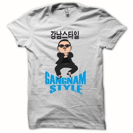 Tee shirt  Gangnam Style 강남 스타일 blanc