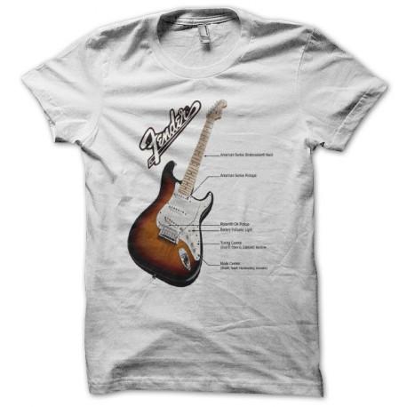 Tee shirt Fender US VG strat Noir/Blanc