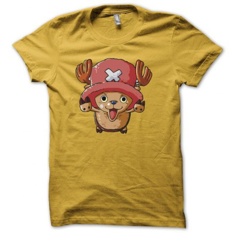Tee shirt manga One piece Tony Tony Chopper jaune