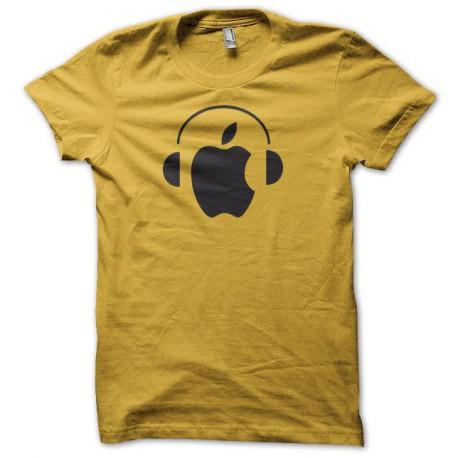 Tee shirt Apple Dj noir/jaune