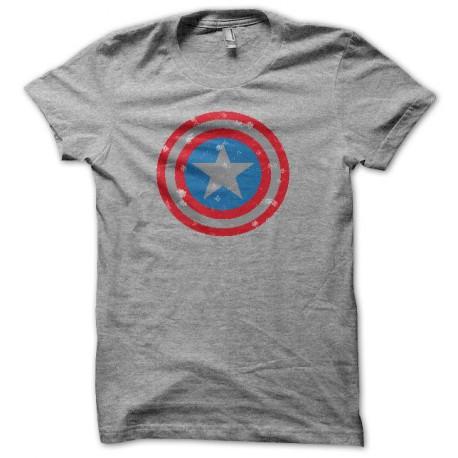 Tee shirt Capt America vintage gris