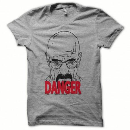 Tee shirt Breaking bad danger Heisenberg gris