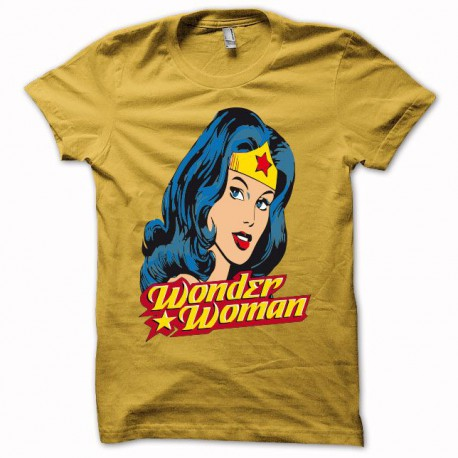 Tee shirt Wonder Woman jaune
