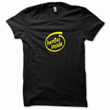 Tee shirt Hentai Inside jaune/noir