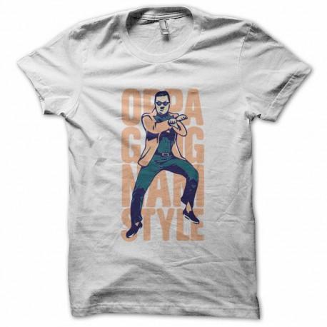 Tee shirt  Gangnam Style OPPA 강남 스타일 blanc