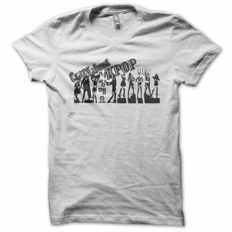 Tee shirt Kpop crazy about Kpop K팝 blanc
