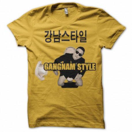 Tee shirt  Gangnam Style WC 강남 스타일 jaune