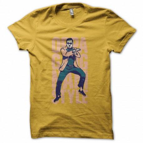 Tee shirt  Gangnam Style OPPA 강남 스타일 jaune
