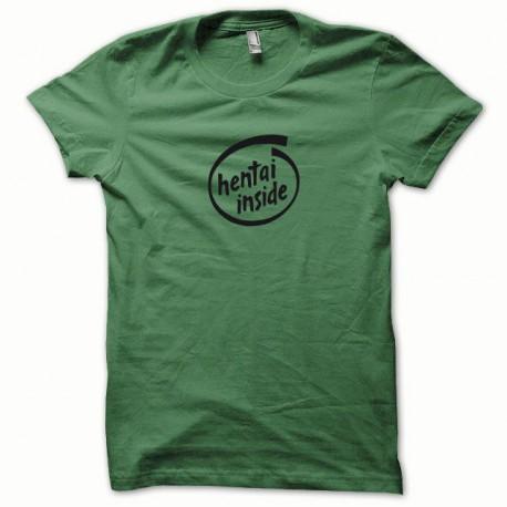 Tee shirt Hentai Inside noir/vert bouteille
