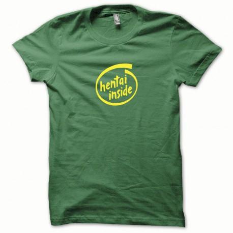 Tee shirt Hentai Inside jaune/vert bouteille