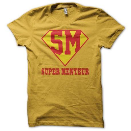 Tee shirt Supermenteur jaune