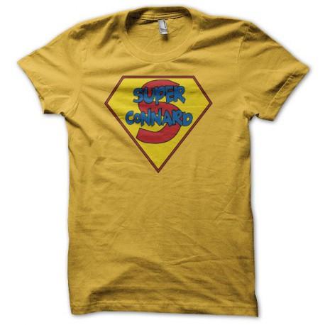Tee shirt Superconnard super connard jaune