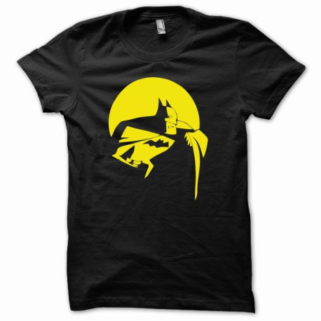 Tee shirt Batman Le Chevalier noir nolan noir/jaune