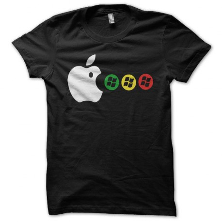 Tee shirt Apple Mac man noir
