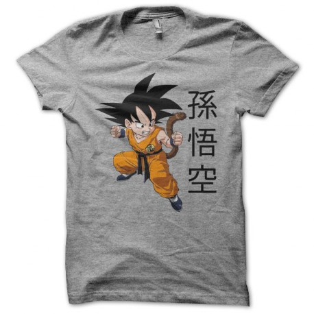 Tee shirt Son Goku 孫悟空 dragon ball gris