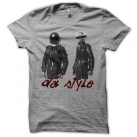 Tee shirt Daft Punk da style gris