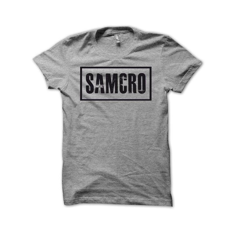 Tee Shirt Sons Of Anarchy Moto Club SAMCRO Noir/gris