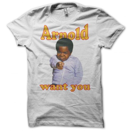 Tee shirt Arnold & Willy Arnold want you blanc