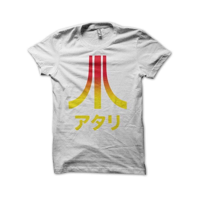 Atari T-shirt blanco Japón colores degradados ba1660981d4