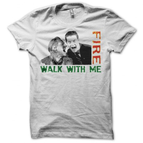 Tee shirt Twin Peaks Fire walk with me Bob & Cooper blanc