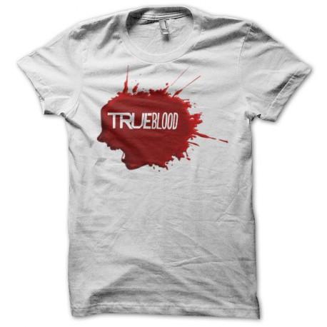 Tee shirt True Blood tâche de sang blanc