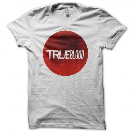 T-shirt True Blood blood splash white