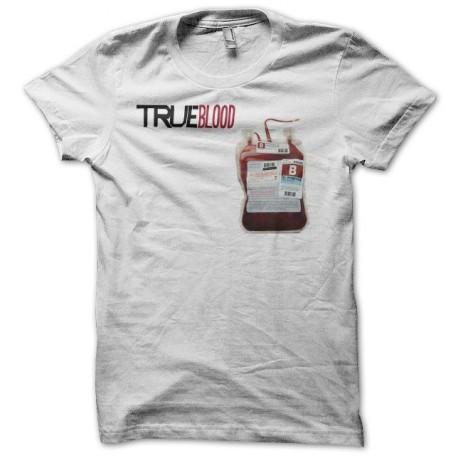 Tee shirt True Blood poche de sang blanc