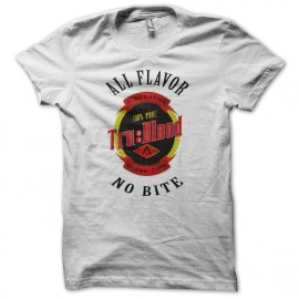 Tee shirt True Blood logo bouteille blanc