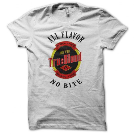 Tee shirt True Blood logo bouteille blanc