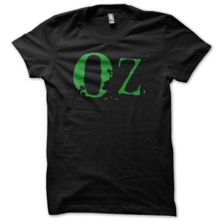 Tee shirt Oz logo vert sur noir