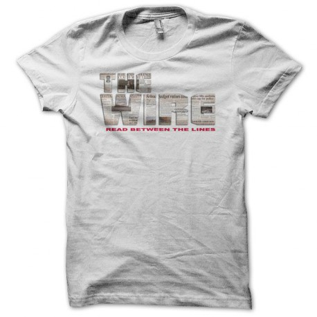 shirt The Wire logo newspaper white
