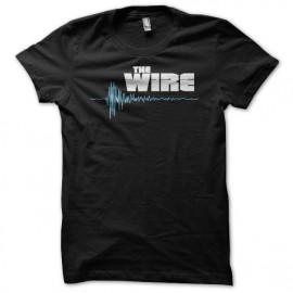 Camiseta The Wire logo blanco/azul on negro