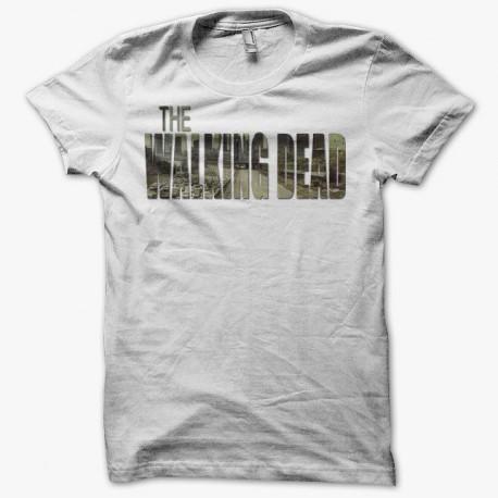 Tee shirt The Walking Dead titre new york blanc