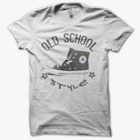 Tee shirt Converse All Star old school style gris parodie sur blanc