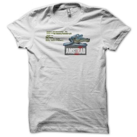 Tee shirt Amstrad croco bootscreen blanc
