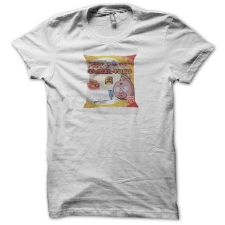 Tee shirt manga Muscleman Kinnikuman noodle pack キン肉マン blanc