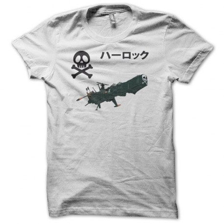 Tee shirt Alabator ハーロック Arcadia blanc